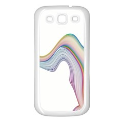 Abstract Ribbon Background Samsung Galaxy S3 Back Case (White)