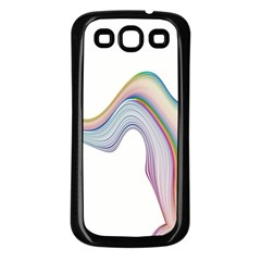 Abstract Ribbon Background Samsung Galaxy S3 Back Case (Black)