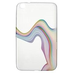 Abstract Ribbon Background Samsung Galaxy Tab 3 (8 ) T3100 Hardshell Case