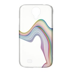 Abstract Ribbon Background Samsung Galaxy S4 Classic Hardshell Case (PC+Silicone)