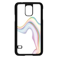 Abstract Ribbon Background Samsung Galaxy S5 Case (black)