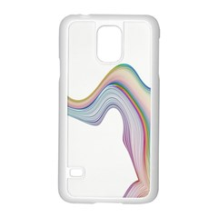 Abstract Ribbon Background Samsung Galaxy S5 Case (white)