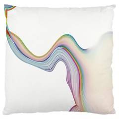 Abstract Ribbon Background Large Flano Cushion Case (One Side)