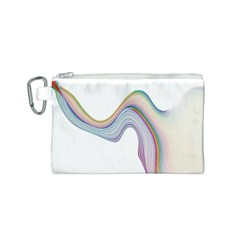 Abstract Ribbon Background Canvas Cosmetic Bag (s)