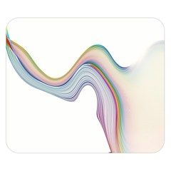 Abstract Ribbon Background Double Sided Flano Blanket (Small)