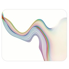 Abstract Ribbon Background Double Sided Flano Blanket (Medium)