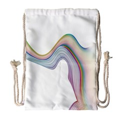Abstract Ribbon Background Drawstring Bag (Large)