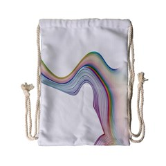 Abstract Ribbon Background Drawstring Bag (small)