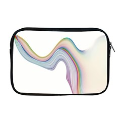 Abstract Ribbon Background Apple Macbook Pro 17  Zipper Case