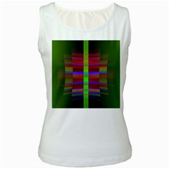 Galileo Galilei Reincarnation Abstract Character Women s White Tank Top
