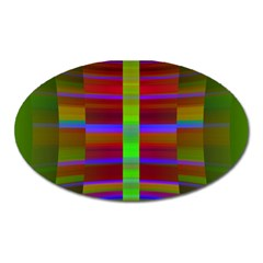 Galileo Galilei Reincarnation Abstract Character Oval Magnet