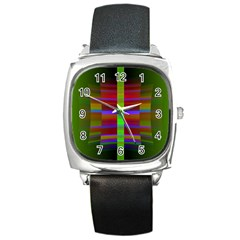 Galileo Galilei Reincarnation Abstract Character Square Metal Watch