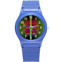 Galileo Galilei Reincarnation Abstract Character Round Plastic Sport Watch (S)