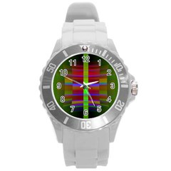 Galileo Galilei Reincarnation Abstract Character Round Plastic Sport Watch (L)