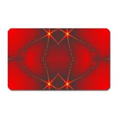 Impressive Red Fractal Magnet (rectangular)