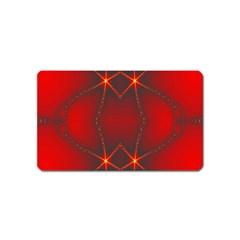 Impressive Red Fractal Magnet (name Card)