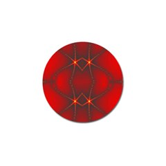 Impressive Red Fractal Golf Ball Marker