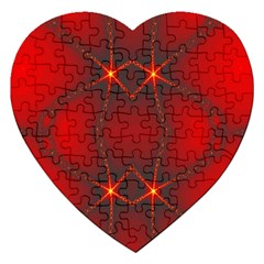 Impressive Red Fractal Jigsaw Puzzle (Heart)