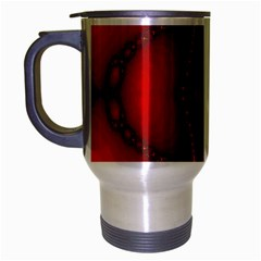 Impressive Red Fractal Travel Mug (silver Gray)