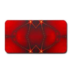 Impressive Red Fractal Medium Bar Mats