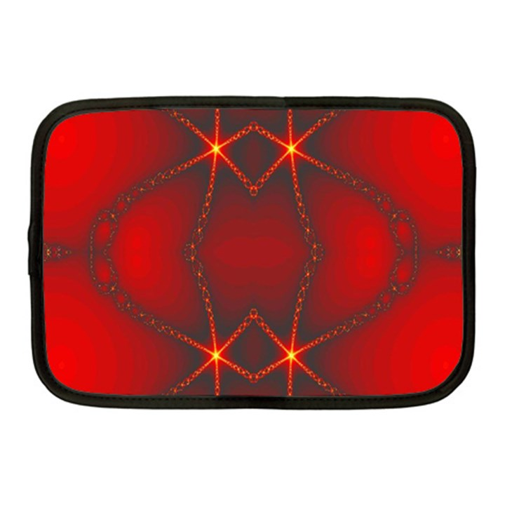 Impressive Red Fractal Netbook Case (Medium)