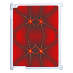 Impressive Red Fractal Apple iPad 2 Case (White)