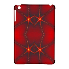 Impressive Red Fractal Apple iPad Mini Hardshell Case (Compatible with Smart Cover)