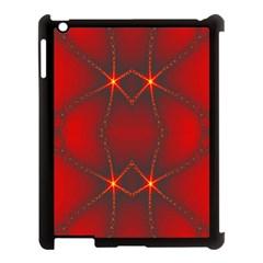 Impressive Red Fractal Apple iPad 3/4 Case (Black)