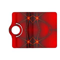 Impressive Red Fractal Kindle Fire HD (2013) Flip 360 Case