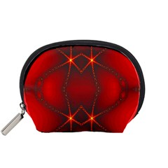 Impressive Red Fractal Accessory Pouches (Small)