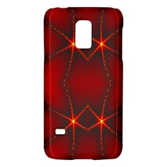 Impressive Red Fractal Galaxy S5 Mini
