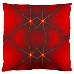 Impressive Red Fractal Standard Flano Cushion Case (Two Sides)