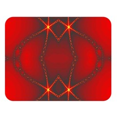 Impressive Red Fractal Double Sided Flano Blanket (large)