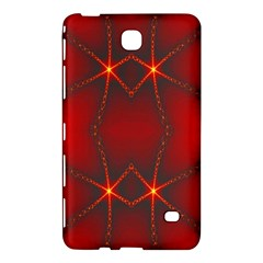 Impressive Red Fractal Samsung Galaxy Tab 4 (7 ) Hardshell Case