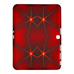 Impressive Red Fractal Samsung Galaxy Tab 4 (10 1 ) Hardshell Case