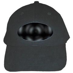 Circular Abstract Blend Wallpaper Design Black Cap