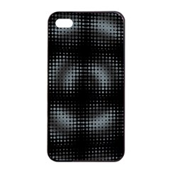 Circular Abstract Blend Wallpaper Design Apple iPhone 4/4s Seamless Case (Black)