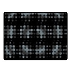 Circular Abstract Blend Wallpaper Design Double Sided Fleece Blanket (Small)