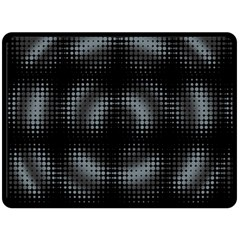 Circular Abstract Blend Wallpaper Design Double Sided Fleece Blanket (Large)