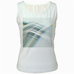 Business Background Abstract Women s White Tank Top