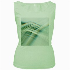 Business Background Abstract Women s Green Tank Top