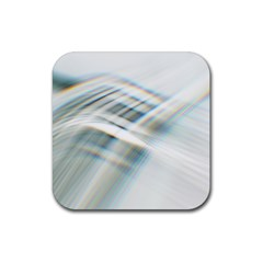 Business Background Abstract Rubber Square Coaster (4 pack)