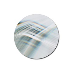 Business Background Abstract Rubber Coaster (round)