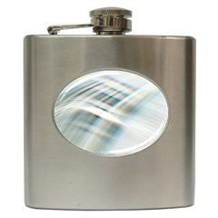 Business Background Abstract Hip Flask (6 Oz)
