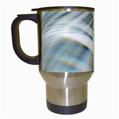Business Background Abstract Travel Mugs (white)