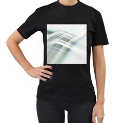 Business Background Abstract Women s T Shirt (black)