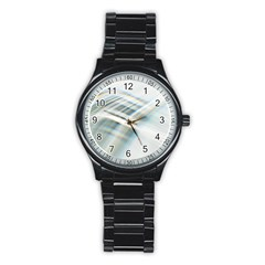 Business Background Abstract Stainless Steel Round Watch