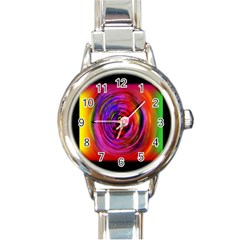 Colors Of My Life Round Italian Charm Watch