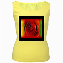 Colors Of My Life Women s Yellow Tank Top