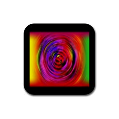 Colors Of My Life Rubber Coaster (square)